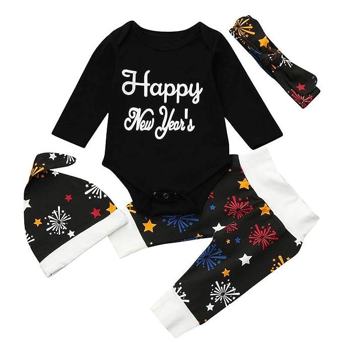 Amazon.com: Conjunto de ropa de bebé de Navidad con gorro y ...
