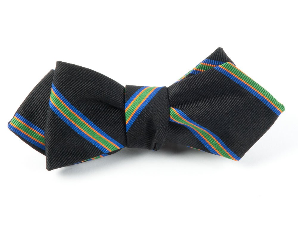 The Tie Bar Organic Paisley 100% Woven Silk Bow Tie