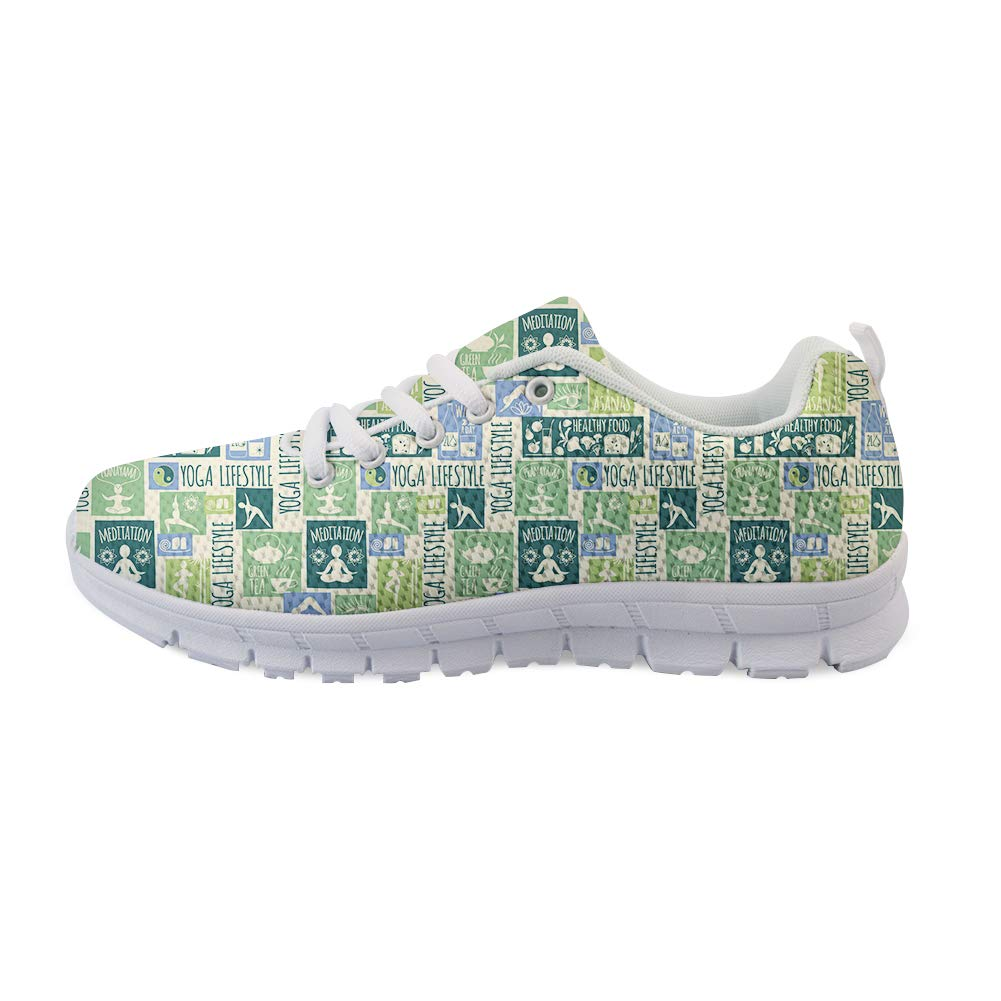 Owaheson Lace-up Sneaker Training Shoe Mens Womens Yoga Life Style