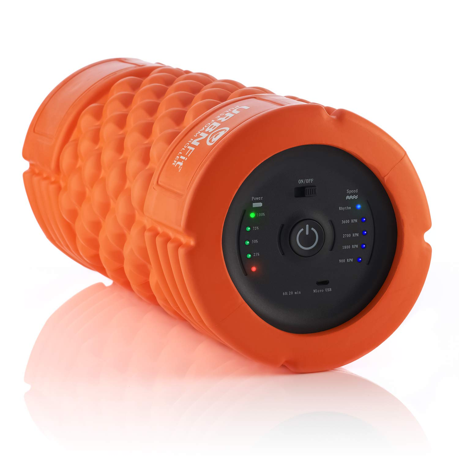 Vibrating Foam Roller - 5-Speed Massager and Roller for Muscle Recovery, Deep Tissue Trigger Point Massage Therapy - 5 Levels from Low To High Intensity Massage For Workouts -Includes Stretching Guide by URBNFit (Image #1)