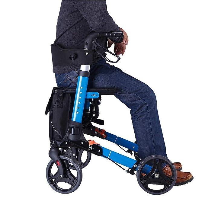 EGCLJ Andador De Movilidad con Asiento Plegable Trolley ...