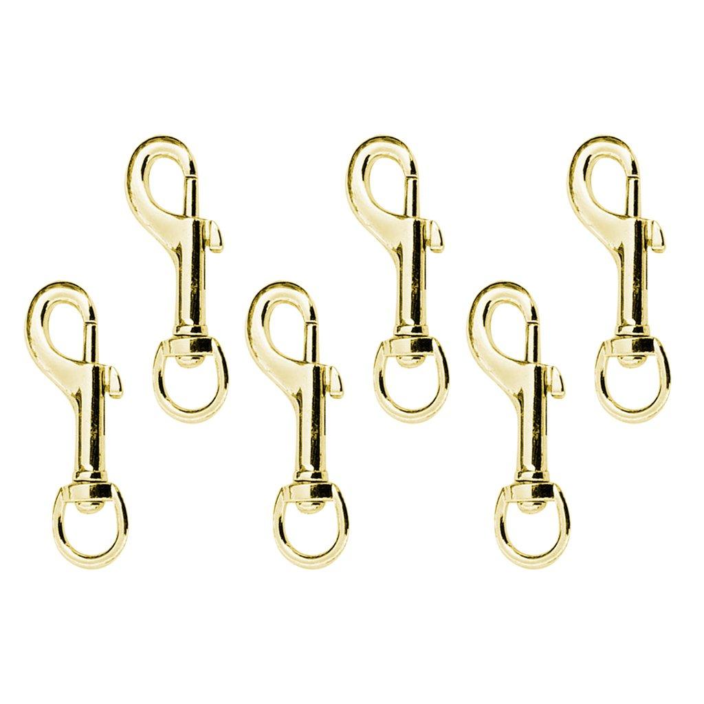 Gold 78 x 25 mm FLAMEER 6pcs 78mm Tasche umklammert Swivel Trigger Clips Karabinerhaken Schl/üsselanh/änger Set