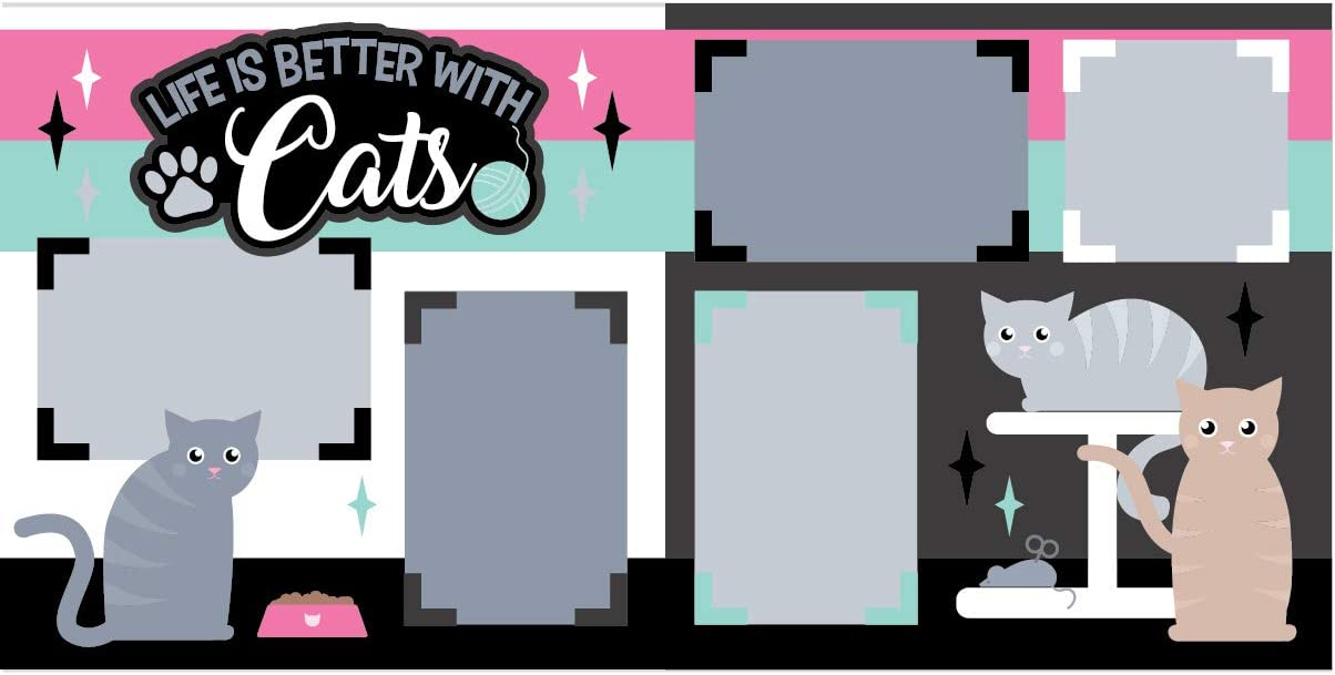 Life is Better with Cats Scrapbook Page Kit