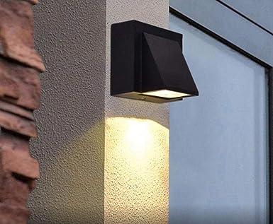 YAOUEWL Lámpara De Pared Lámpara Exterior Edificio Exterior Puerta Exterior Balcón Jardín Lámpara Iluminación Blanco Cálido_3W: Amazon.es: Iluminación