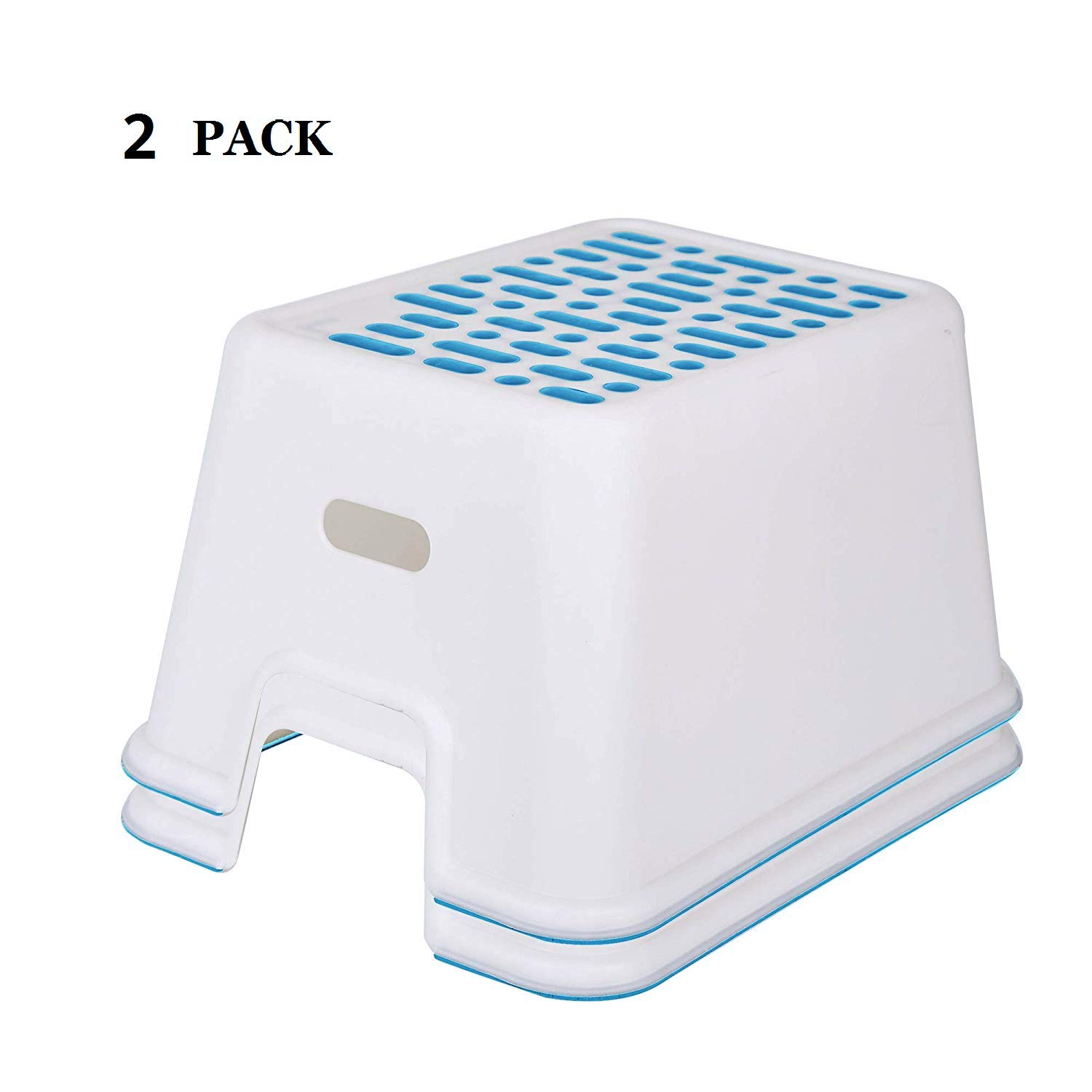 """Adult Bathroom Anti-Skid Stool,5/""""Grey dporticus 2 Pack Kids Non-Slip Step Stools for Toilet Potty Training"""