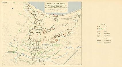 Map Of Africa 1960.Amazon Com Egypt 30 31 Aug 1942 Battle Of Alam El Halfa World War