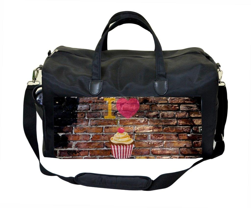 I Love Cupcakes Wall Art Print Design Weekender Bag