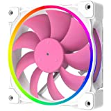 ID-COOLING ZF-12025-PINK Case Fan 120mm 5V 3 PIN Addressable RGB Cooling Fan MB Sync, 4 PIN PWM Speed Control Fans for Radiat