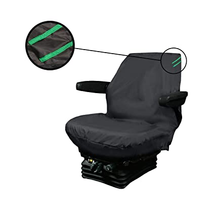 XtremeAuto Universal Waterproof Digger Seat Cover Medium Black With Green Detailing