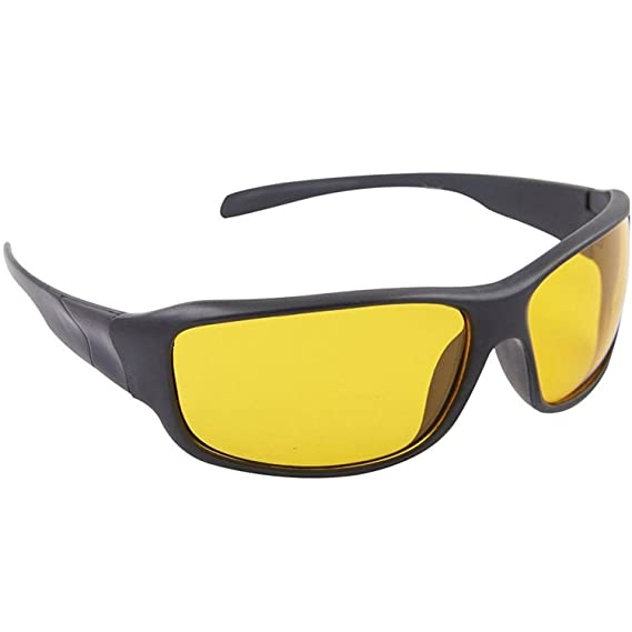 cea43153be8 Dervin Yellow Lens Black Frame Night Vision Driving Sunglasses for Men and  Women  Amazon.in  Clothing   Accessories