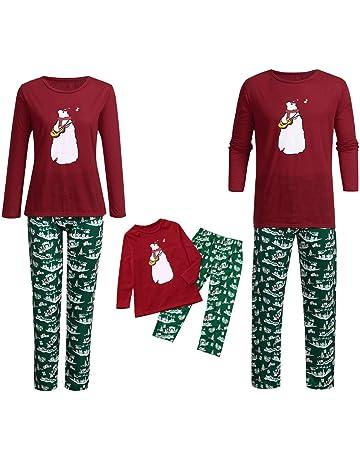 Descuento Conjunto de Pijama de Navidad Familiar,Pijama Navidad Niños/Mamá/Papá Traje