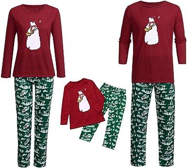 Descuento Conjunto de Pijama de Navidad Familiar,Pijama ...