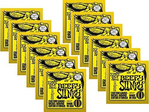 Ernie Ball Beefy Slinky String (Ernie Ball 2627 Beefy Slinky Electric Strings, 12 Pack)