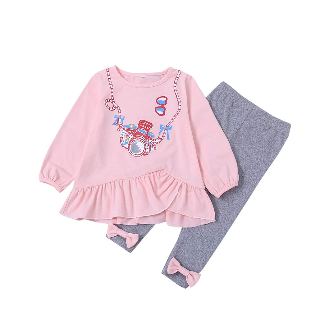 Fairy Baby Toddler Girl Cute Outfit Clothes 2pcs Casual Top Shirt+Long Pant Set