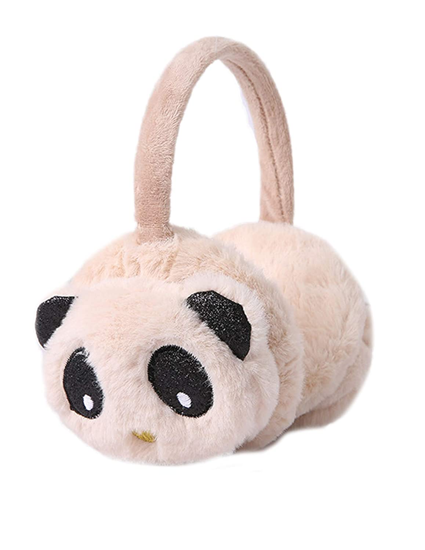 Unisex Winter Girls//Boys Quilted Ear Wamer Adjustable Panda Ear Muff