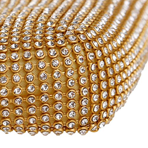 il di partito donne maniglia della delle Borse della borse colore della del Rhinestone frizione le Sububblepper per borsa brillante Argento Oro da sera con aUxqwx4A