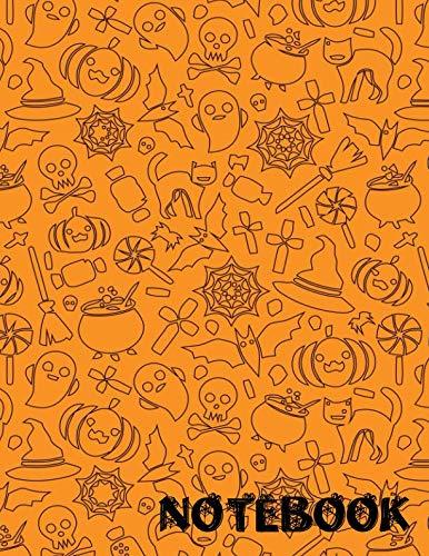 Notebook: Halloween Composition Book (Diary/Journal/Notebook) (8.5x11 -