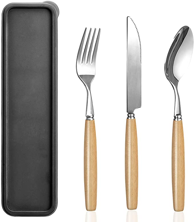 18 Pieces Reusable Cutlery Set Safe for Little Hands Perfect for Your Next Outdoor Adventure and Picnics Portable Camping Cutlery Orange
