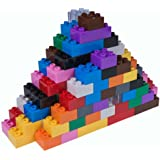Strictly Briks - Big Briks Set - 108 Pieces - 12 Rainbow Colors - Compatible with All Major Brands - Large Building…