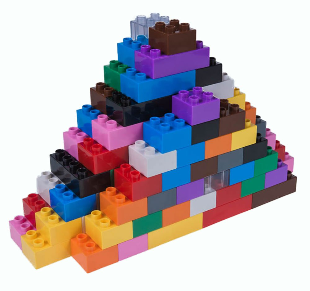 Strictly Briks Classic Big Briks, Building Brick Set, 108 Pieces 2 Large Block Sizes 100% Compatible with All Major Brands, 12 Fun Colors Review