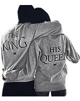 Fulltime® Amant de la Reine / King Imprimer Lettre T-shirt couple manches longues Tops