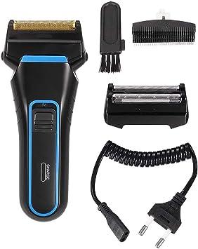LKJCZ Máquina de Afeitar eléctrica de 2 Cuchillas Afeitado ...