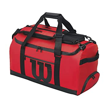 74d3a66cce7f Wilson Tennis Tech Duffle Bag - Red Red  Amazon.co.uk  Sports   Outdoors