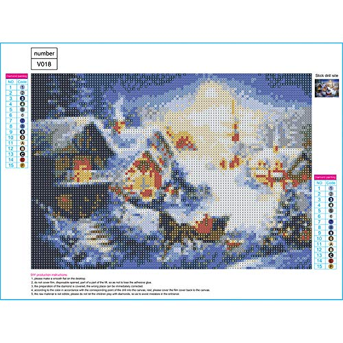 Clearance,Special Adults Kids DIY Craft 5D Diamond Christmas Theme Embroidery Rhinestone Pasted Arts Painting Cross Stitch,Bedroom Kitchen Living Room Home Wall Decor Artistical Painting