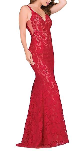 finest selection b4269 10470 Vestiti Donna Cerimonia Lunghi Elegante Pizzo Abiti da Sera ...
