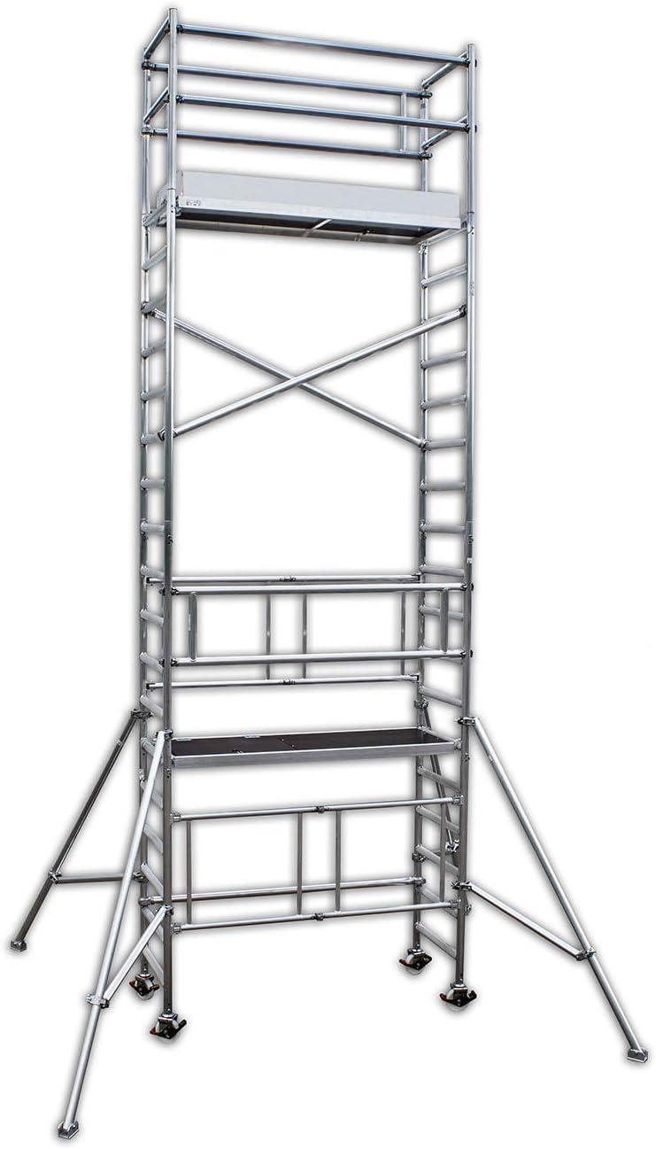 T/ÜV-probado Made in Germany aluminio de ruedas del andamio//plegable del andamio//andamio//sala de andamio//de trabajo de la plataforma//plataforma de trabajo A/&M Alu del andamio aluklik andamio m/óvil 700