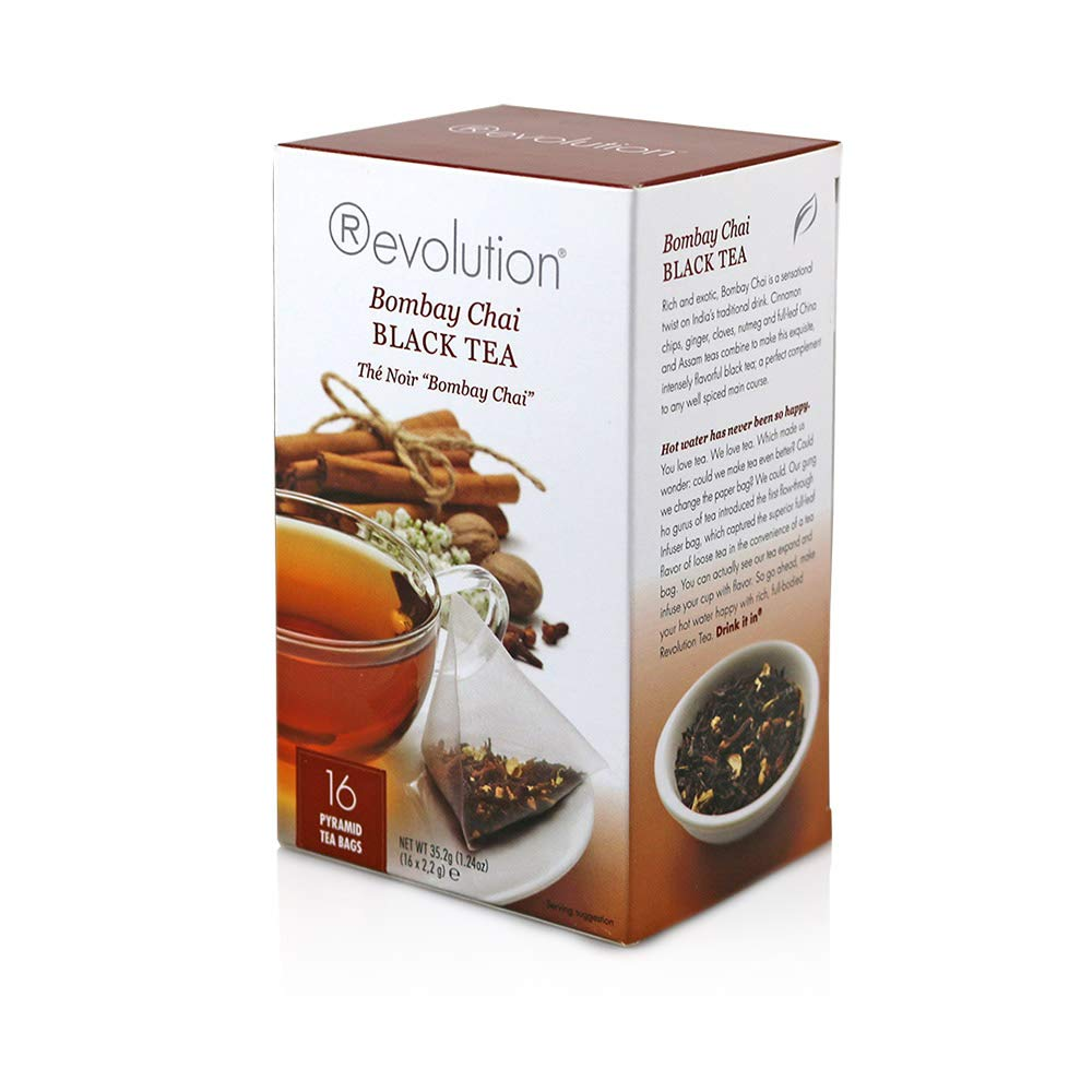 Revolution Tea Chai Tea, Bombay, 16 Count (Pack of 6)