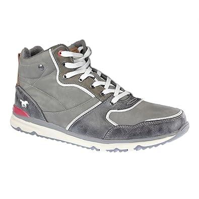 6b2bebaffa5 Mustang Men's High Top Sneaker Hi-Top Slippers Grey Size: 15: Amazon ...