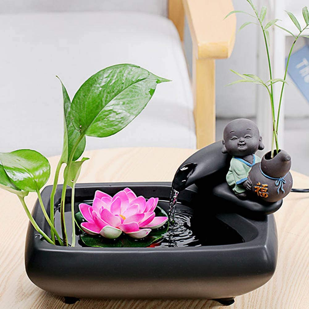 Amazon Com Ygzs Indoor Tabletop Water Fountain Indoor Zen Fountain Small Indoor Fountains Indoor Fountains And Water Features Relaxation Fountain Black B 29 18 20cm Home Kitchen