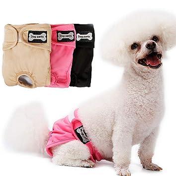 HYFZY Pañal Reutilizable Pantalones Perro Niña con Bolsa De Vientre, Adecuado para Perros De Todos
