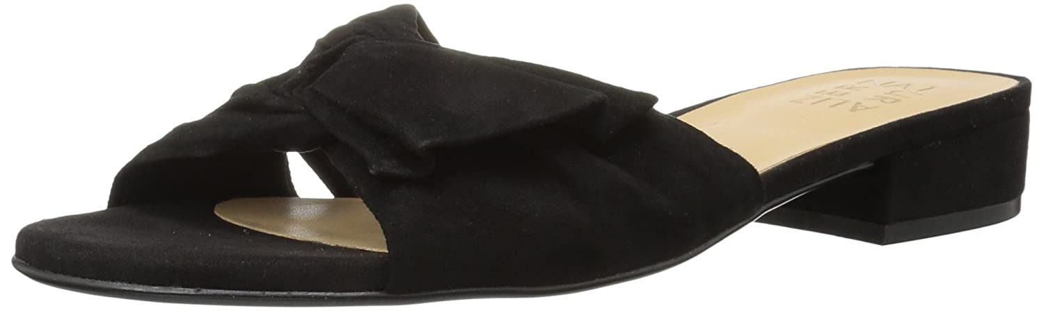 Naturalizer Women's Mila Slide Sandal B073X22BBD 8 B(M) US|Black Suede