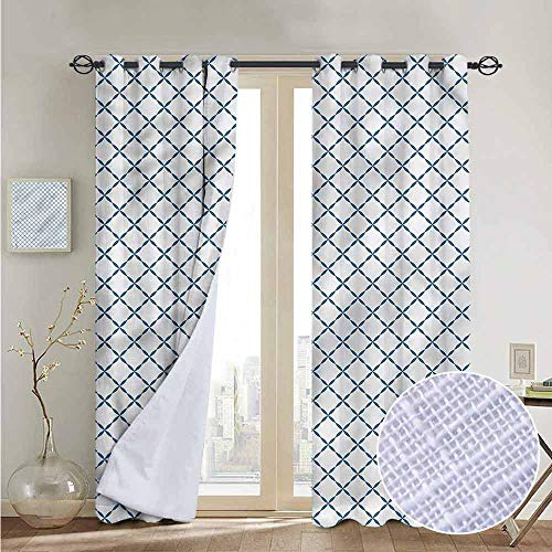 - NUOMANAN Blackout Curtains Trellis,Lattice Like Nostalgic,Insulating Room Darkening Blackout Drapes for Bedroom 120