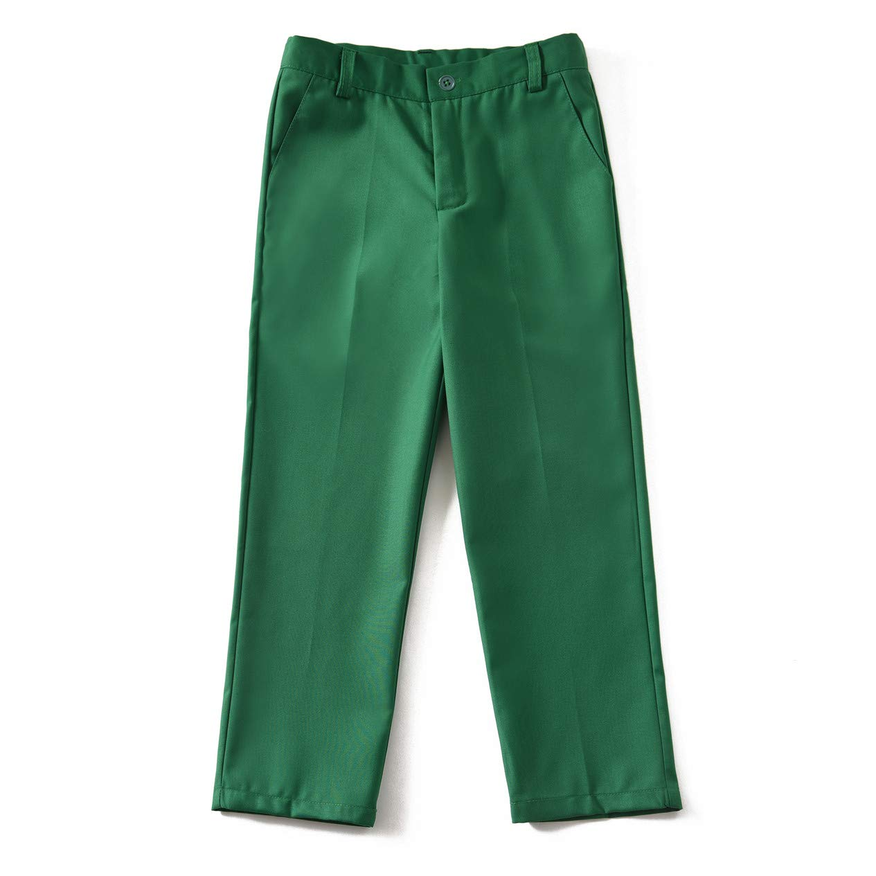 Boys Vest and Pants Set Kids Suit for Boy Formal Tuxedo Dresswear Outfit Green Size 7 by Visaccy (Image #6)