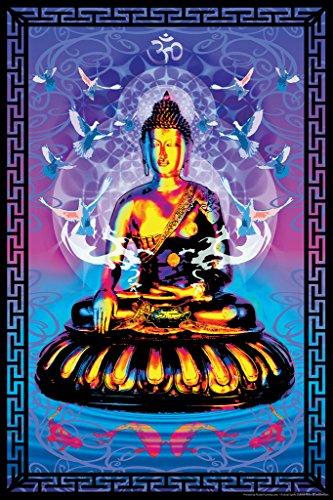Buddha Fractal Art Print Poster 12x18