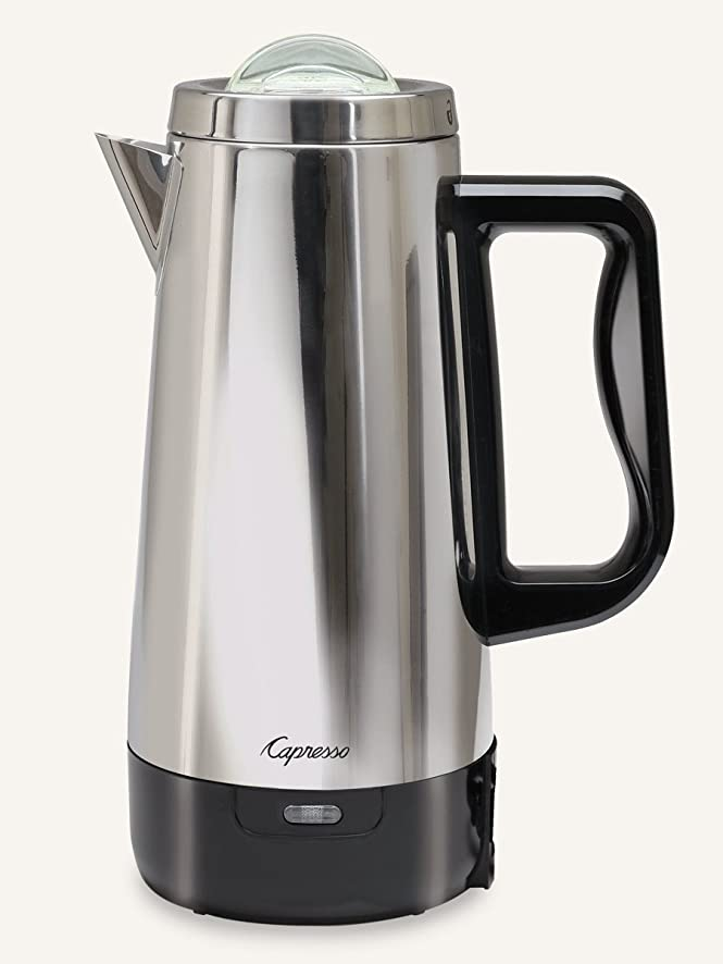 Amazon.com: Capresso 405.05 12 Cup Perk Coffee Maker, Metallic ...