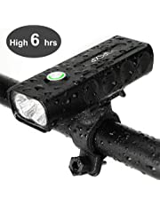 IPSXP Bike Light, USB Rechargeable Bicycle Cycling Headlight Bicycle Front Light Mountain Bike Light 1000 Lumen LED Flashlight with 3 Modes, IPX5 Waterproof Bike Light