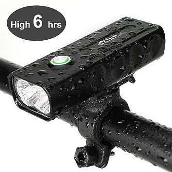 IPSXP Luz de Bicicleta, USB Recargable Luz de Delantera Faro LED Bicicleta, 1000 Lúmenes