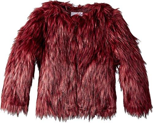 Appaman Kids Baby Girl's Faux Fur Fully Lined Coat (Toddler/Little Kids/Big Kids) Garnet 8 (Garnet Dress Kids)