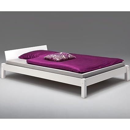 Idimex Bett Mistral Kiefer Massiv Weiß 120 X 200 Cm