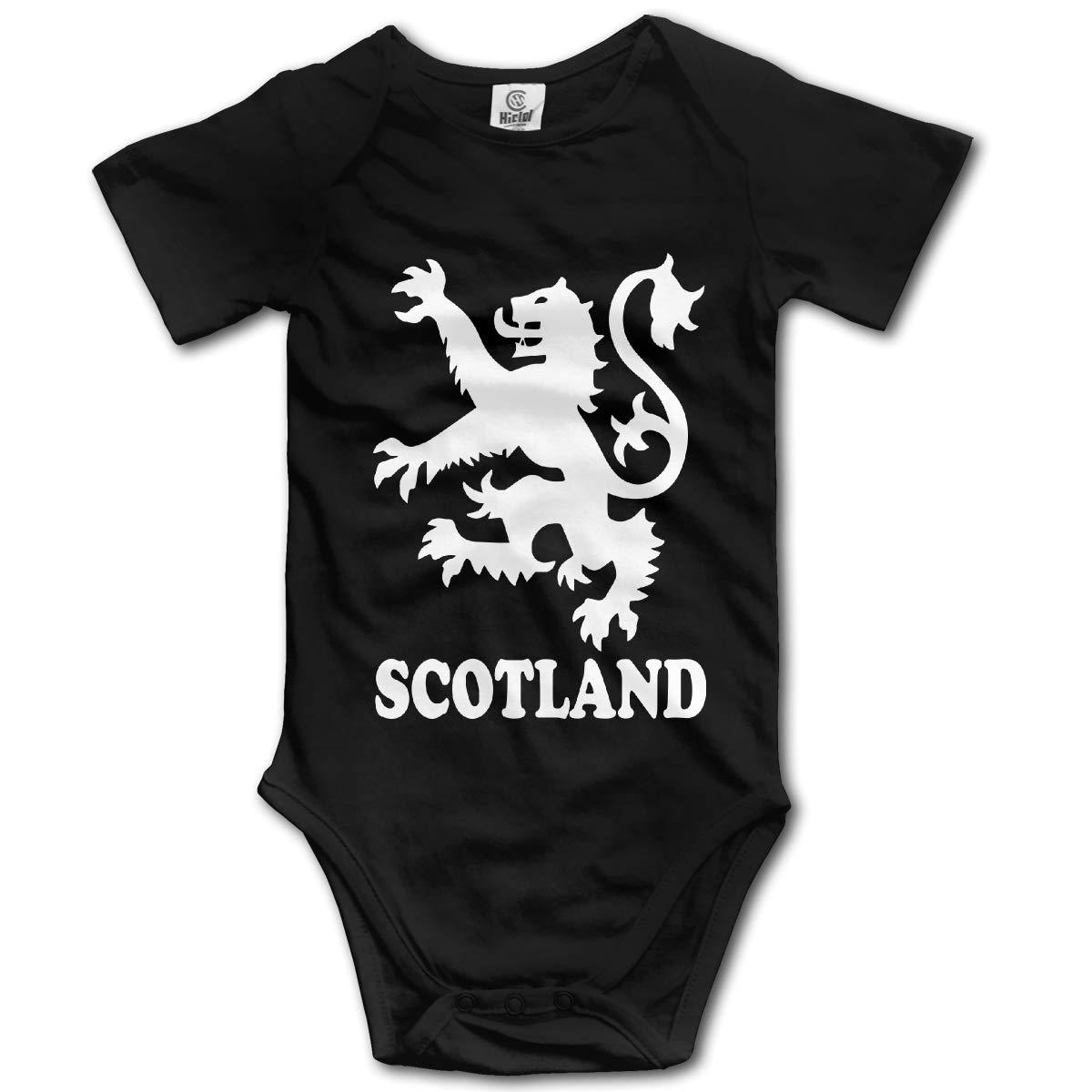 J122 Lion Rampant Scotland Scottish Suit 6-24 Months Baby Short Sleeve Baby Clothes Climbing Clothes