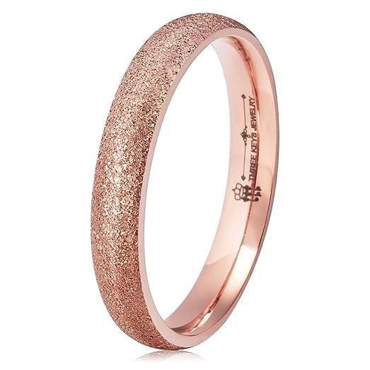 Amazoncom Three Keys Jewelry 4mm Titanium Wedding Ring For Women