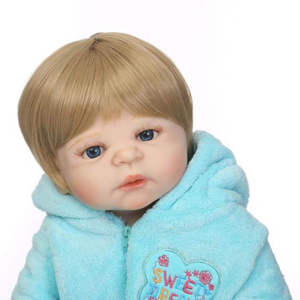 IIWOJ blau 57cm blau IIWOJ Reborn Baby Puppe Simulation niedliche silikonpuppe, Geschenk für mädchen,Girl e38302