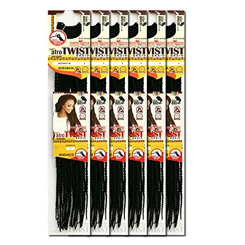 [6 Packs Deal!] Inspire Beyonce Braid Style-Senegalese Afro Twist Braid 20