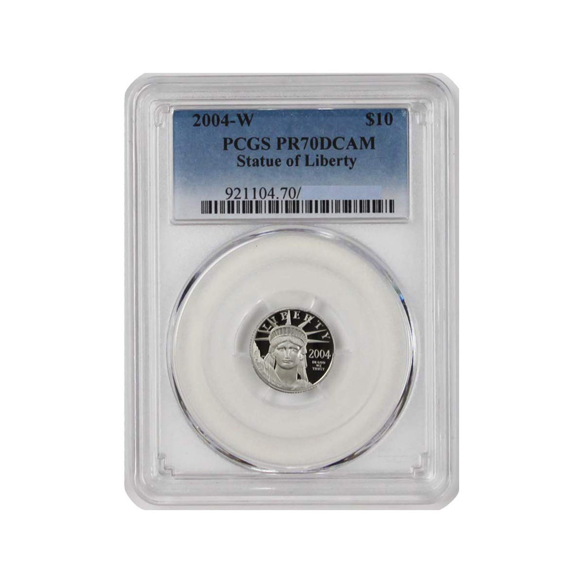 2004 W 1/10oz Platinum Statue of Liberty Proof Coin $10 PR70DCAM PCGS at Amazons Collectible Coins Store