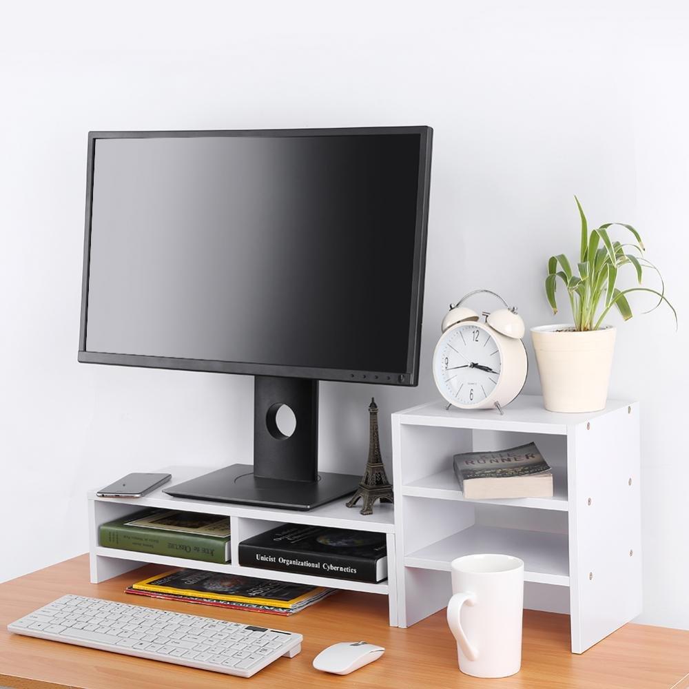 GOTOTOP Computer Monitor Riser Soporte Ordenador port/átil Monitor con Adicional 3/Capa Desktop Storage Estanter/ía 3/Color Opcional