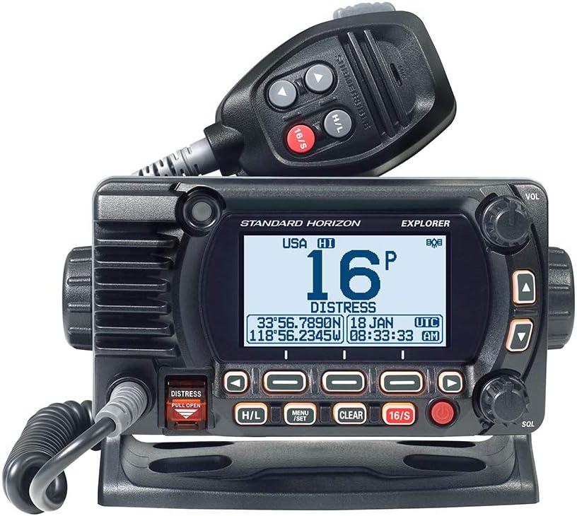 Standard Horizon GX1850GB Explorer VHF, w/GPS, Opt. 2nd Station, N2K, Black